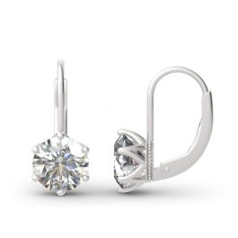 Jeulia Classic Round Cut Sterling Silver Earrings