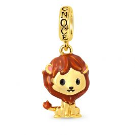 Lion Pendant Dangle Charm Sterling Silver 18k Gold Plated