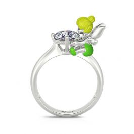 """Jeulia Hug Me """"Fairy of Forest"""" Cute Fantasy Fairy Winged Angel Sterling Silver Ring"""