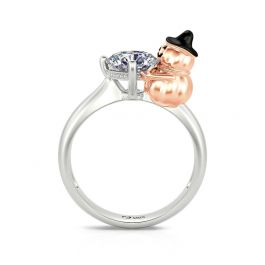 """Jeulia Hug Me """"Witch Hat Pumpkin"""" Round Cut Sterling Silver Ring"""