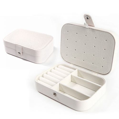 Jeulia Double-layer PU Jewelry Storage Box