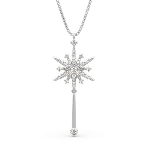 "Jeulia ""Fairy Magic"" North Star Sterling Silver Necklace"