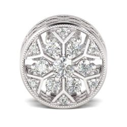 Snowflake Charm Sterling Silver