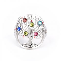 Jeulia Family Tree Birthstone Ring
