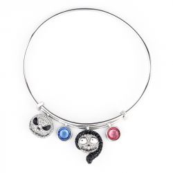 "Jeulia ""Magic At Midnight"" Skull Sterling Silver Personalized Bracelet"