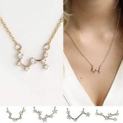 Jeulia Constellation Necklace With Stones Sterling Silver