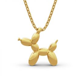 """Jeulia """"Balloon Dog"""" Sterling Silver Necklace"""