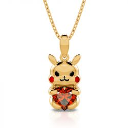 """Jeulia Hug Me """"Give You Power"""" Cute Design Heart Cut Sterling Silver Necklace"""