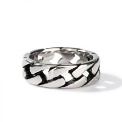 Jeulia Chain Design Stainless Steel Men's Band