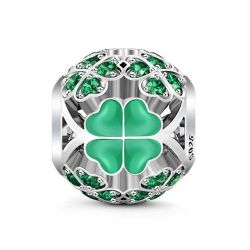 Lucky Clover Charm Sterling Silver