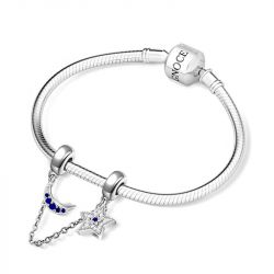 Starry Night Safety Chain Sterling Silver