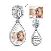 Tear Photo Charm Sterling Silver