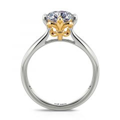 "Jeulia ""Love's Messenger"" Iris Round Cut Sterling Silver Ring"