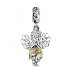 Little Angel Dangle Charm Pendant 925 Sterling Silver