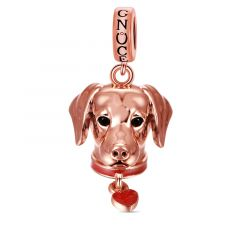 Labrador Pendant Dangle Charm Sterling Silver 18k Rose Gold Plated