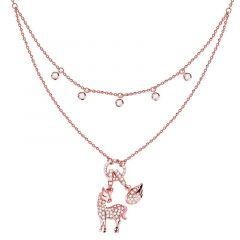 Jeulia Layered Unicom Sterling Silver Necklace