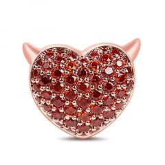 """""""Devil with Kind Heart"""" 925 Sterling Silver Charm"""