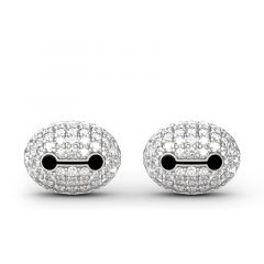 Jeulia Superhero Inspired Sterling Silver Stud Earrings