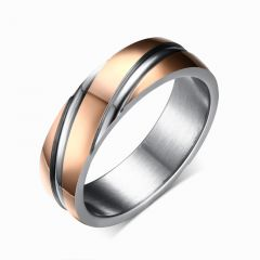 Jeulia Rose Gold Tone Titanium Steel Men's Band