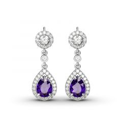 Jeulia Charming Tear Drop Earrings